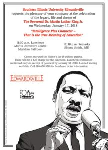 SIUE MLK Donor Invite